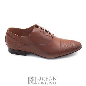 Pantofi eleganti barbati din piele naturala,Leofex - 834 maro box
