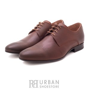 Pantofi eleganti barbati din piele naturala,Leofex - 885 cognac box