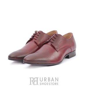 Pantofi eleganti barbati din piele naturala,Leofex - 885 Visiniu Box