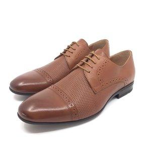 Pantofi eleganti barbati din piele naturala,Leofex - 891 Cognac Box