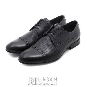 Pantofi eleganti barbati din piele naturala,Leofex - 891 negru box
