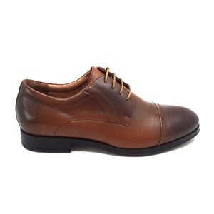 Pantofi eleganti barbati din piele naturala, Leofex - 930 Cognac box