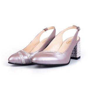 Pantofi eleganti dama decupati din piele naturala - 2050 Taupe box