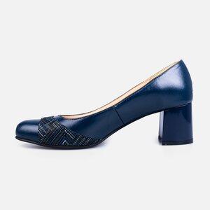 Pantofi  eleganti dama din piele naturala - 172 blue box