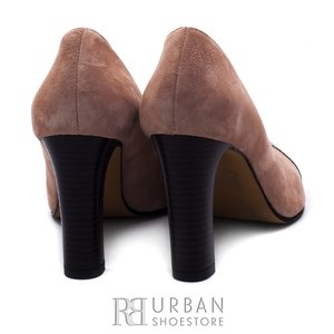 Pantofi eleganti dama din piele naturala - 2016-110 taupe velur