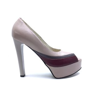 Pantofi eleganti dama din piele naturala - 263 Tas cu Grena Box