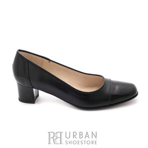 Pantofi eleganti dama din piele naturala  - 378 negru box