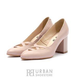 Pantofi eleganti dama din piele naturala- 544/5G Nude Box