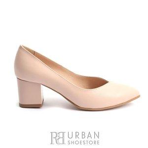 Pantofi eleganti dama din piele naturala  - 820 Nude Box