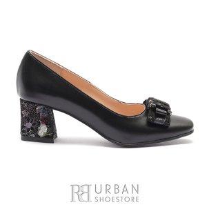 Pantofi eleganti dama din piele naturala- 89 Negru box