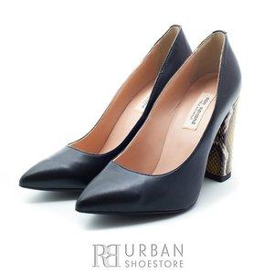 Pantofi eleganti dama din piele naturala  - 892-3 negru box