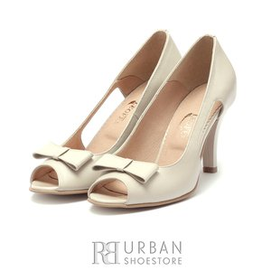 Pantofi eleganti dama din piele naturala, Leofex - 739  Bej Sidef