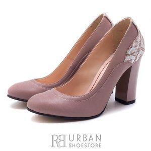 Pantofi eleganti din piele naturala - 0562-102B Nude