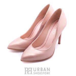 Pantofi eleganti dama din piele naturala - 016-744 nude