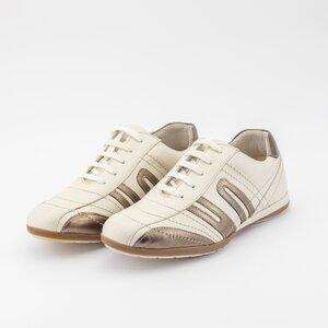 Pantofi sport barbati din piele naturala, Leofex - 545 Bej bronz box