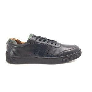 Pantofi sport barbati din piele naturala, Leofex - Mostra Star negru box