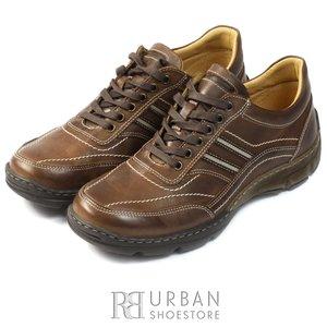 Pantofi casual barbati din piele naturala, Leofex - 131 maro box