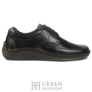 Pantofi casual barbati,perforati din piele naturala, Leofex - 759 blue box