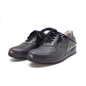 Pantofi sport dama din piele naturala, Leofex - 235 gri box