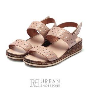 Sandale cu talpa joasa dama din piele naturala Leofex- 212 Taupe