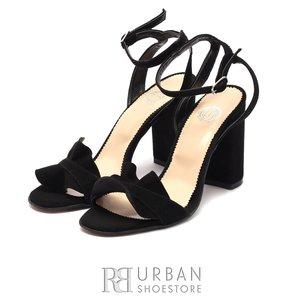Sandale cu toc elegante dama din piele naturala - 937-11 negru velur