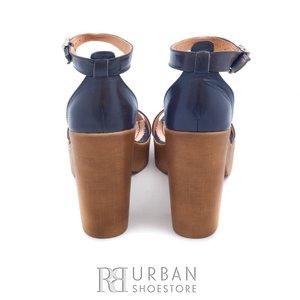 Sandale din piele naturala - 039-1 maro-blue