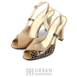 Sandale elegante din piele naturala - 0642-4 bej-croco