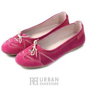 Balerini din piele intoarsa - 456 roz