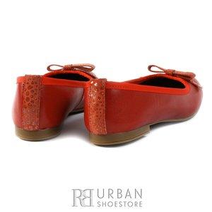 Balerini din piele naturala - 1184 rosu