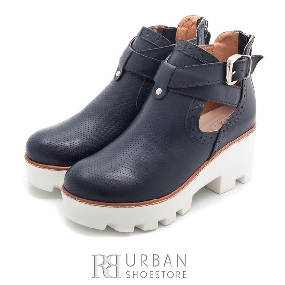 Botine de vara box - 411-2 Blue