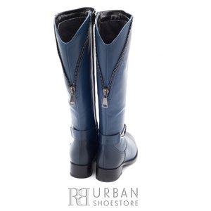 Cizme dama din piele naturala - 470 blue