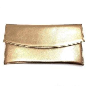 Geanta plic eleganta din piele naturala -  Auriu Box