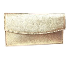 Geanta plic eleganta din piele naturala pentru dame- Auriu Box
