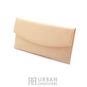 Geanta plic eleganta din piele naturala pentru dame - bej