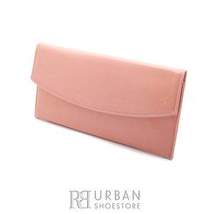 Geanta plic eleganta din piele naturala pentru dame - roz