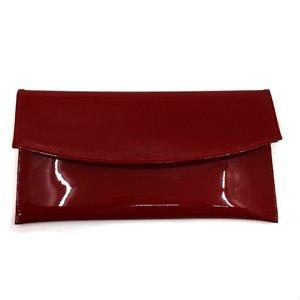 Geanta plic eleganta din piele naturala - Rosu Lac