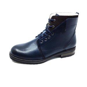 Ghete casual barbati din piele naturala Leofex- 809 Blue Box Velur