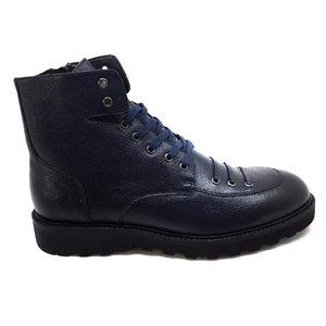 Ghete casual barbati din piele naturala  Leofex - 989 Blue Box