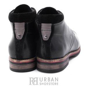 Ghete casual din piele naturala pentru barbati - 805 negru