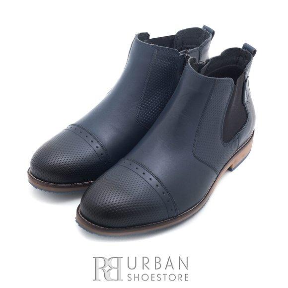 Ghete casual din piele naturala pentru barbati - 867 blue