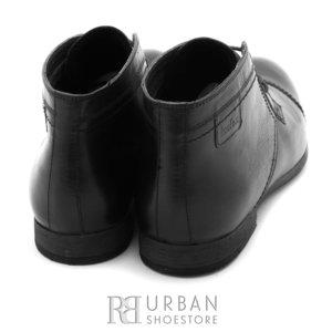 Ghete casual din piele naturala pentru barbati - 870* negru