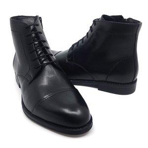 Ghete casual din piele naturala pentru barbati- 914 Negru Box