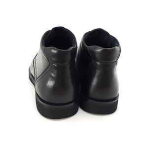 Ghete casual din piele naturala pentru barbati - 962 Negru