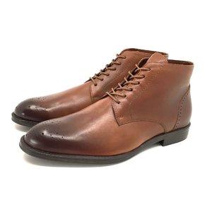 Ghete casual din piele naturala pentru barbati- 976 Cognac Box