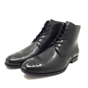 Ghete casual pentru barbati din piele naturala  - 910 Negru Box