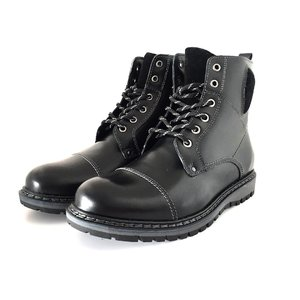Ghete imblanite din piele naturala pentru barbati - 904 Negru Box