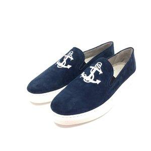 Pantofi barbati casual din piele intoarsa Leofex- Mostra  Blue Ancora Velur