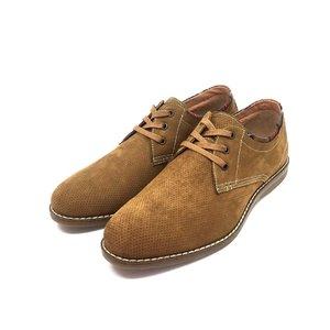 Pantofi barbati casual din piele nabuc Leofex - 875 camel nabuc