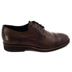 Pantofi barbati casual din piele naturala Leofex - 537 Mogano Box