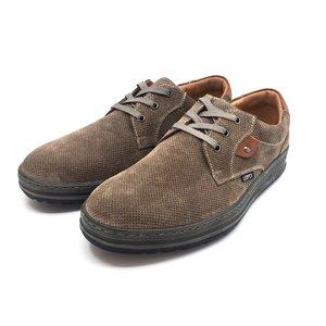 Pantofi barbati casual-sport din piele naturala Leofex - Mostra Marcus Taupe Velur